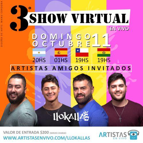 Comprá entradas para el show de llokallas en Artistas en Vivo