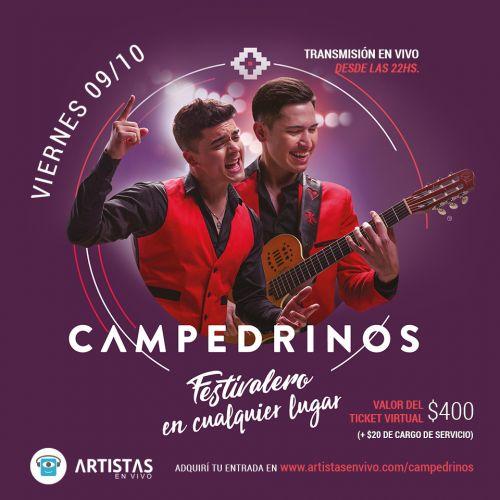 Comprá entradas para el show de Campedrinos en Artistas en Vivo