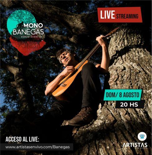 Comprá entradas para el show de Mono Banegas en Artistas en Vivo